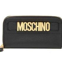 New Moschino Couture Logo Leather Zip Around Wallet Wristlet - 655 Photo