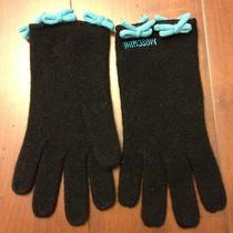 New Moschino Knitted Gloves 60% Lambs Wool   Black Photo