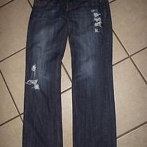 New Mossimo Boyfriend Womens Jeans Size 7 Destryoed Distsressed Pretty Look Photo