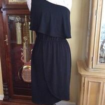 New Mossimo Dress P L/g Large Black One Shoulder Poly Rayon Spandex Dress Nice Photo