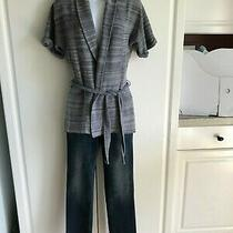 New Mossimo Jeans Size 00/24r With Banana Republic Sweater Size Xs Gray Open  Photo