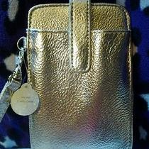 New Mossimo Metallic Gold Phone Card Case W/ Wrist Strap Photo