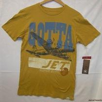 New Mossimo Retro Hamilton Wood Type Gold Gotta Jet Super Sonic T Shirt Sz S Photo