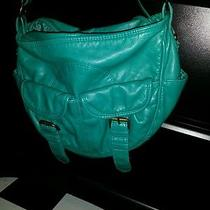 New Mossimo Teal Mint Green Faux Leather Purse Messenger Crossbody Shoulder Bag Photo