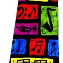 New Musical Music Notes G Cleff Instruments Necktie Neck Tie Steven Harris Slved Photo