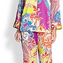 New Natori Chinois Pajama Set Size Medium Multi Color  Photo
