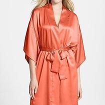 New Natori Sunset Charmeuse Kimono Wrap Robe Sz L Large Photo