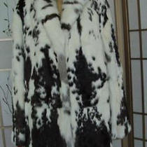 New Natural Rabbit Fur Coat Jacket Women Sz 14-16 Photo