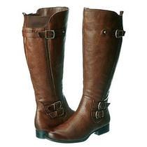 New Naturalizer Johanna Banana Bread Women's Leather Boots Size 8.5 Ww Photo