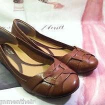 New Naturalizer Maude N5 Comfort Coffee Brown Leather Flats Slip on Size 9w 79 Photo