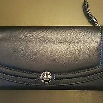 New Navy Blue Leather Coach Wallet Photo
