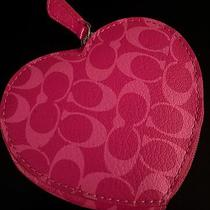 New  //  Never Used   Cute    Coach   Heart Shaped  Pink Coin Purse / Wallet Photo