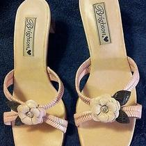 New Never Worn Brighton Tasha Leather Pink Slides/sandals  7.5m Photo