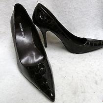 New Newport News Brown Croc Look Pointy Toe Stilettos 7.5m Photo