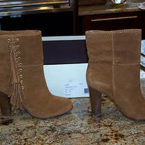 New Nib Women's Coach Tamsin Rich Suede Boots Shoes Sz 6  M  Toffee Tan Brown  Photo