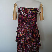 New Nice Bcbg Max Azria Ladies Strapless Multicolor Nice Dress Size 2 Rrp 358 Photo