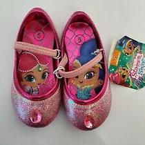 New Nickelodeon Shimmer and Shine Shoes Ballet Flats Pink Toddler Girls Size 5  Photo