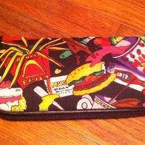 New Nicole Miller Ladies Wallet Junk Food 1991 Nwt Photo