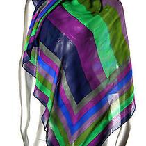 New Nicole Miller Scarf Bright Multi-Color Photo