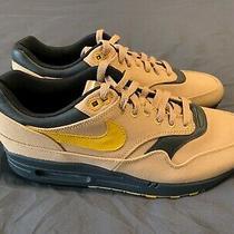 New Nike Air Max 1 Premium Qs Running Shoe - Elemental Gold Yellow - Mens 9 Photo