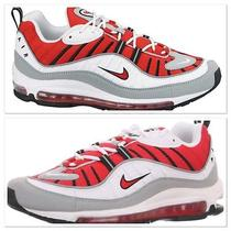 New Nike Air Max 98 Men's Running Shoes University Red White Grey Sz/ 15  Photo