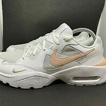 New Nike Air Max Fusion Sneakers White / Gray / Blush- Cj1671 101 Women's Sz 12 Photo