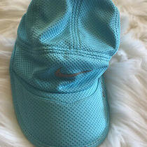 New Nike Blue Dri Fit Quick Dry Athletic Cap Hat Adjustable Back 4 Express Photo