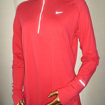 New Nike Dri-Fit Element 1/2 Zip Top - Women's Xl Pink Reflective Pullover 50 Photo