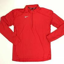 New Nike Element Half Zip Pullover Men's Large Red 896691 Running Long Sleeve Photo