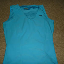 -New- Nike Fit Dry Aqua Turquois Blue Stretch Athletic Tank Top Xs Womens Photo
