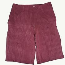 New Nike Fit Dry Drifit Wmn Golf/dress Shorts Bermuda Sz 2 Nwt 70 Wine Maroon Photo