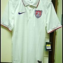 New Nike Men's Us Home Match Soccer Polo Jersey Shirt 578024 105 Size S & L Photo