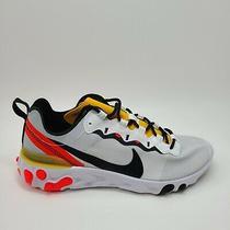 New Nike Mens React Element 55 Tour Yellow Bq6166-102 Sneaker Shoes Size 8 Photo