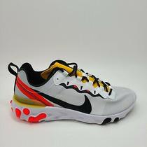 New Nike Mens React Element 55 Tour Yellow Bq6166-102 Sneaker Shoes Size 8 Photo