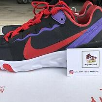New  Nike React Element 55 Black/red/purple Cq9903-001 Womens Sz 9 Running Photo