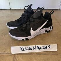 New Nike React Element 55 Running Shoe Black White Bq6166-003 Men's Sz 10 Photo