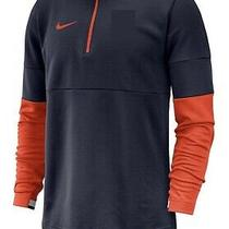 New Nike Therma Half Zip Sideline Coaches Top Men's M Blue Red Jacket Ci4543 Photo
