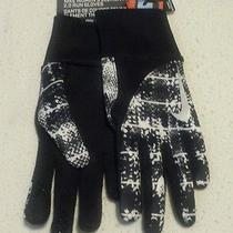 New Nike Women's Element Thermal 2.0 Run Gloves -Xs Black White Touch Screen Photo
