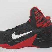New - Nike Zoom Hyperfuse 2013 Black Red Silver Men's Basketball Shoes - Sz 8.5 Photo