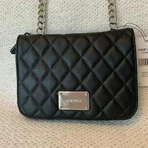 New Nine West Cross Body Purse Black Quilted Shoulder Bag Highbridge Photo