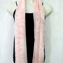 New Nine West Fall Blush Peach Pink Scarf Tie Dye Chiffon Wrap Oblong 74