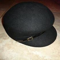New Nine West Newsboy Hat Black 7