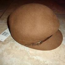 New Nine West Newsboy Hat Tan 7