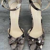 New Nine West Shoes Wedges Heels Snake Print 7.5 Photo