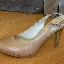 New Nine West Taupe Leather Pump Left Only Shoe High Heel Photo