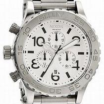 New Nixon A037-100 Chrono Men's White Watch Photo