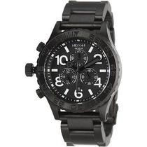 New  Nixon A037001 42-20 Chronograph All Black Steel Watch 4220 New Photo