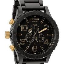New Nixon A083-1041 the Chrono Matte Black Gold Men's Watch Photo