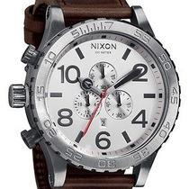 New Nixon A124-1113 the Chrono Silver Brown Men's Watch Photo