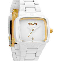 New Nixon A300-1035 Women's All White Gold Watch Photo